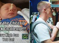 Stacking Cheerios on Sleeping babies